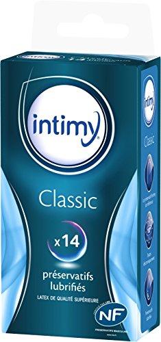 INTIMY-Prservatifs-classic-x14-Prservatifs-Lubrifis-Avec-Rservoir-Surface-Lisse-Latex-de-Qualit-Suprieure-0