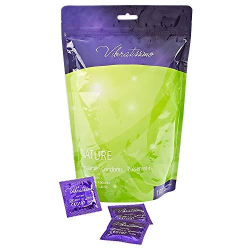 Paquet-de-100-prservatifs-VIBRATISSIMO–Nature–pour-des-sensations-pures-et-naturelles-extra-lubrifis-fabriqus-et-tests-en-Allemagne-0
